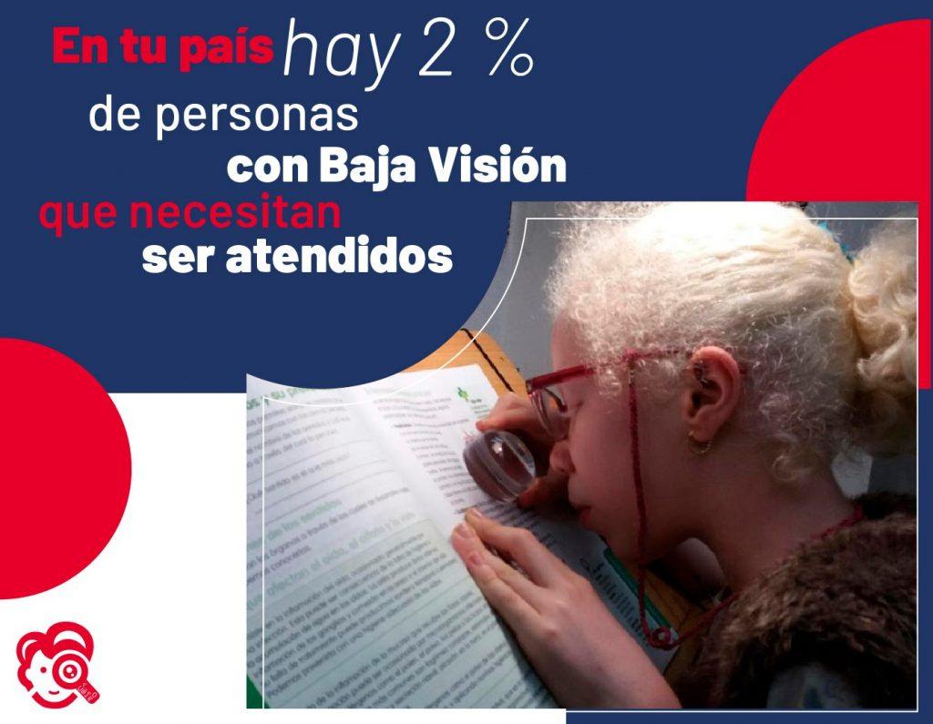 En tu país hay 2% de personas con Baja Visión